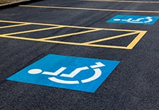 Parking Lot markings and striping by EC Paving concrete and asphalt contractors in Houston, TX